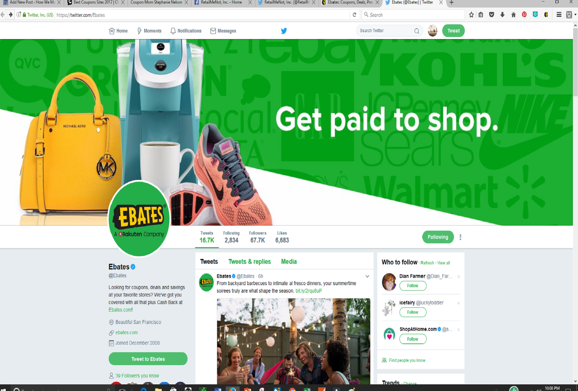 Coupons websites with biggest discounts and hot deals with ebates you get the biggest cash back savings from americas biggest retailers including amazon ebay walmart jc penney macys kohls and more fandeluxe Choice Image