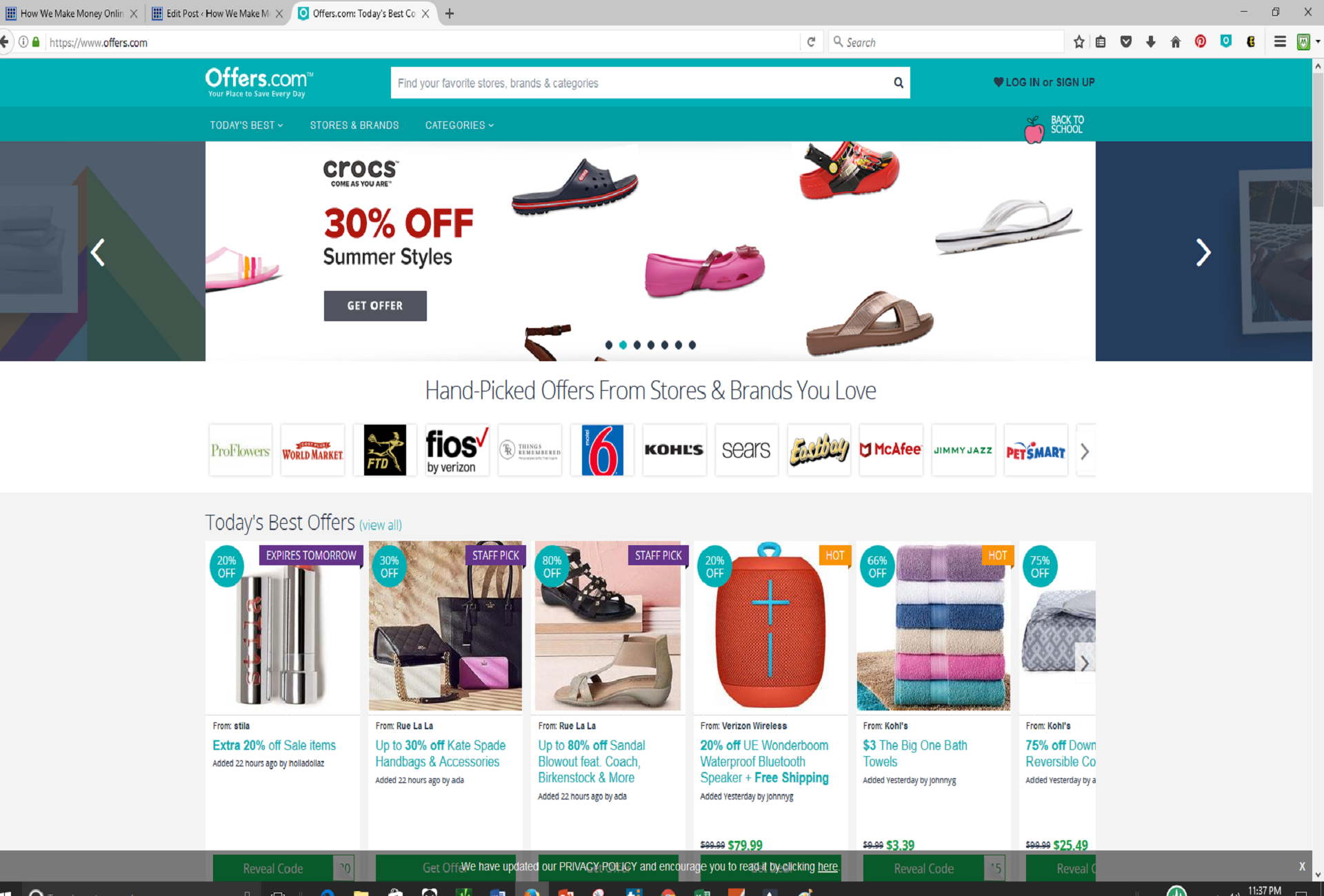 Coupons websites with biggest discounts and hot deals you can start your savings journey with offers by installing their web browser button and mobile app then all you do is to sit back and enjoy your fandeluxe Choice Image