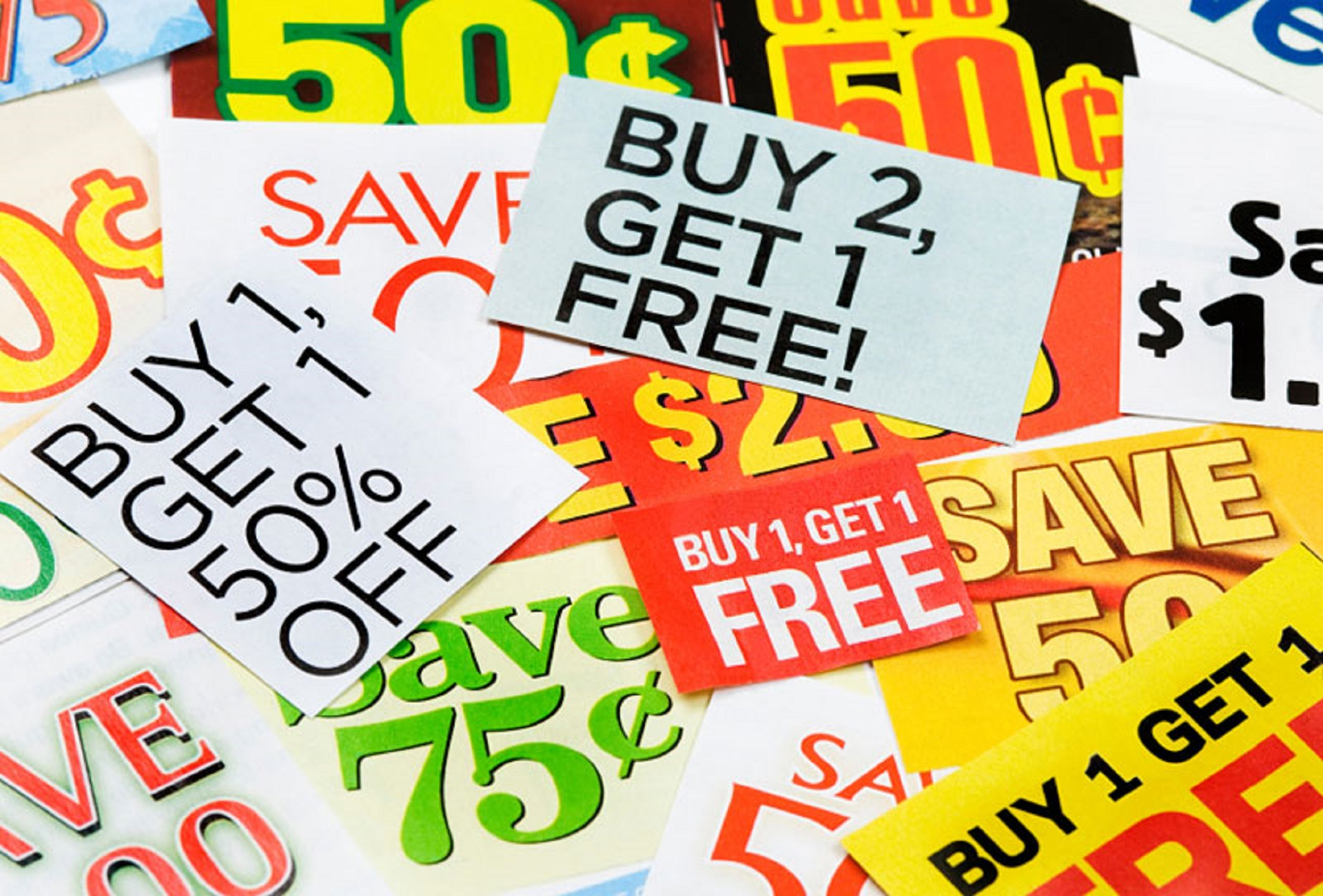 Retailers coupons rebates and online discounts are types of