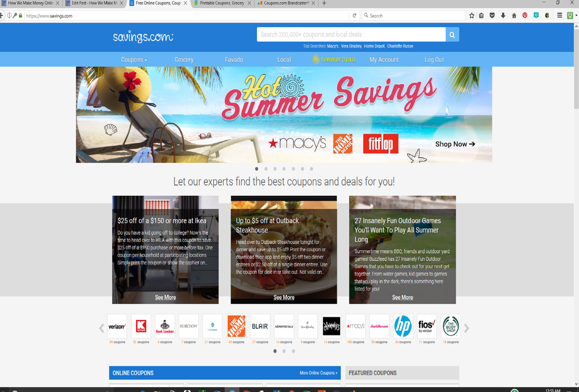 Coupons Websites with Biggest Discounts and Hot Deals