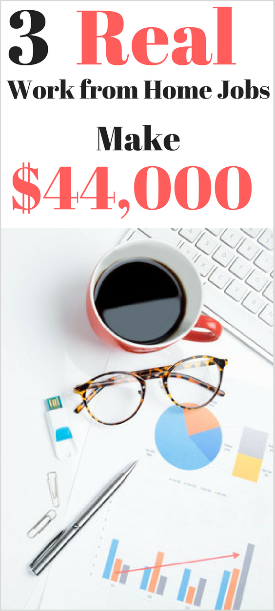 3 Real Work from Home Jobs – Make $44,000 from Home
