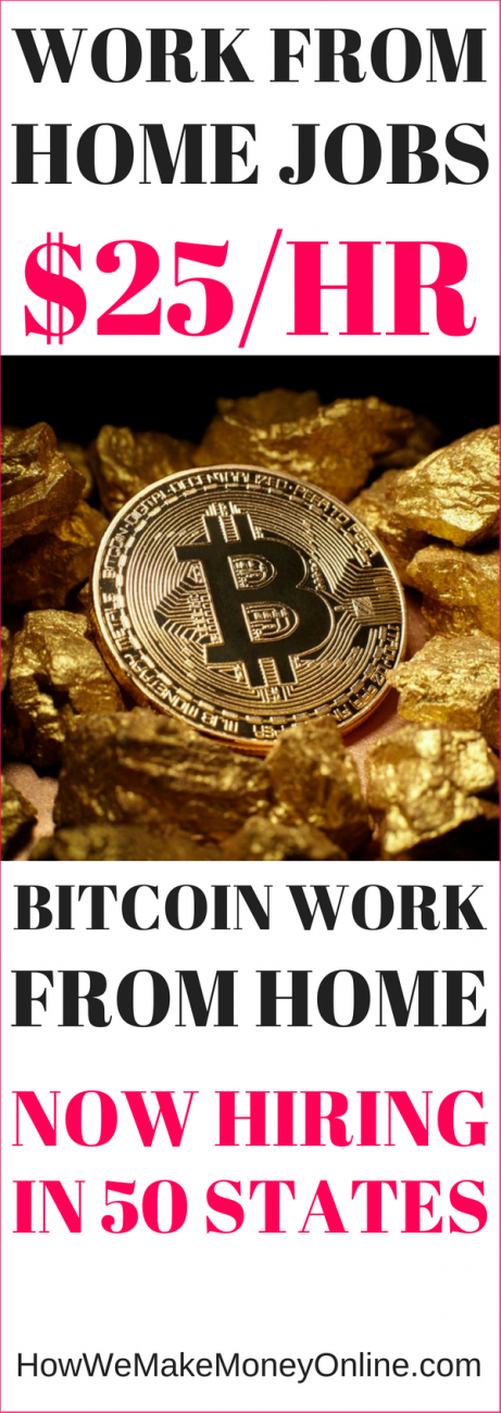 Bitcoin Company Will Pay You $25/hr to Work from Home in 50 States!