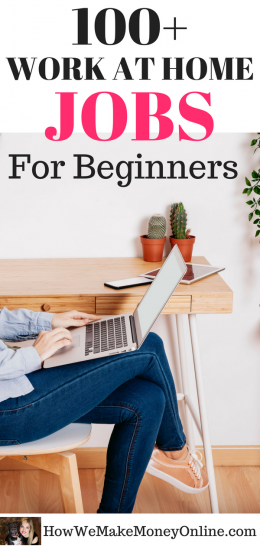 work at home jobs for beginners