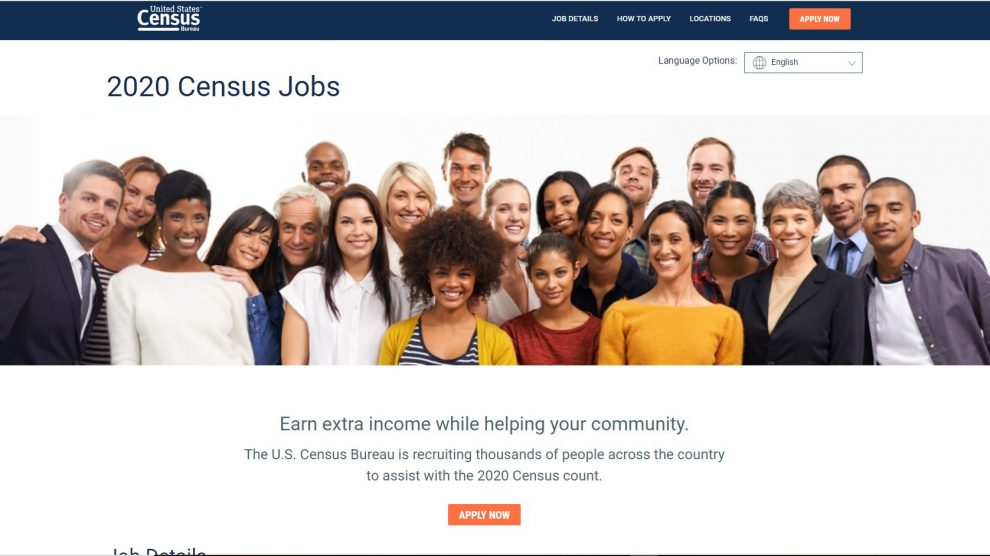 U.S Census Bureau jobs Work from Home Census 2020 jobs