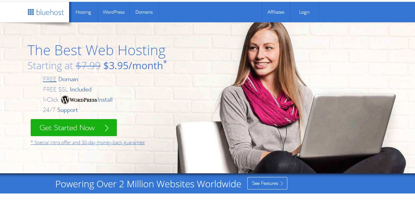 how to set up a wordpress blog on bluehost