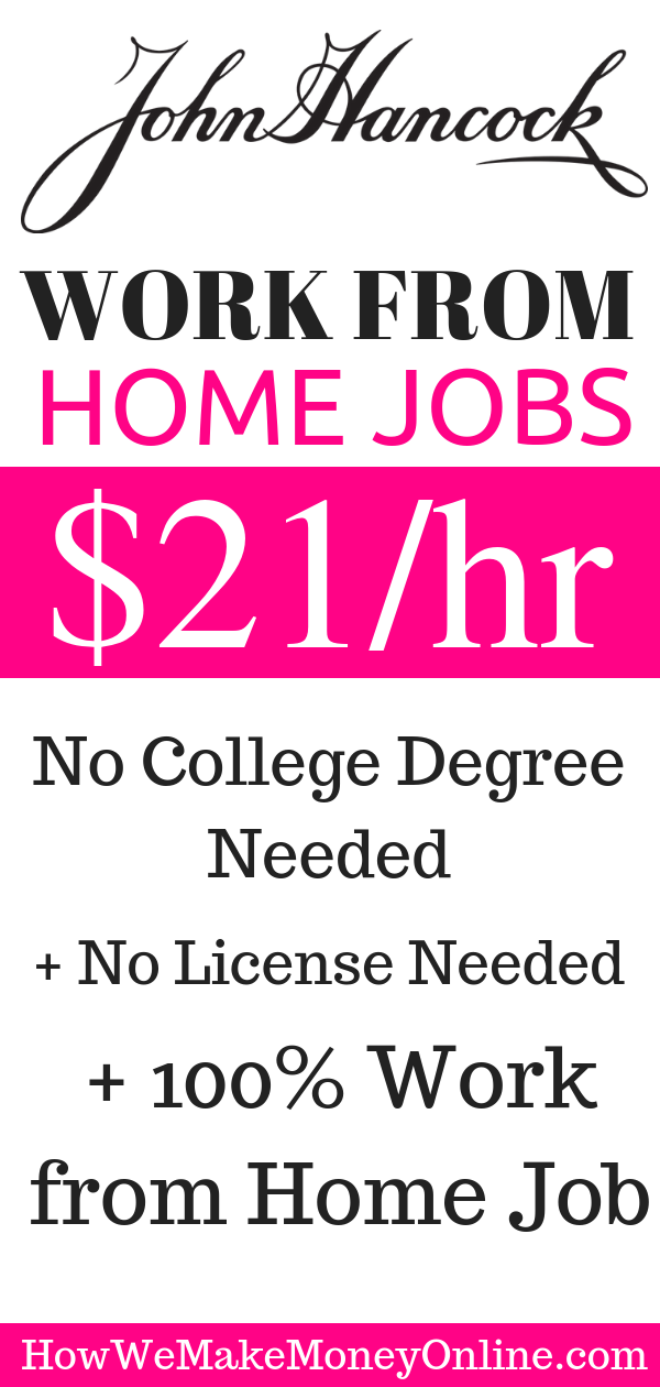 John Hancock is Hiring Work from Home $21_hr