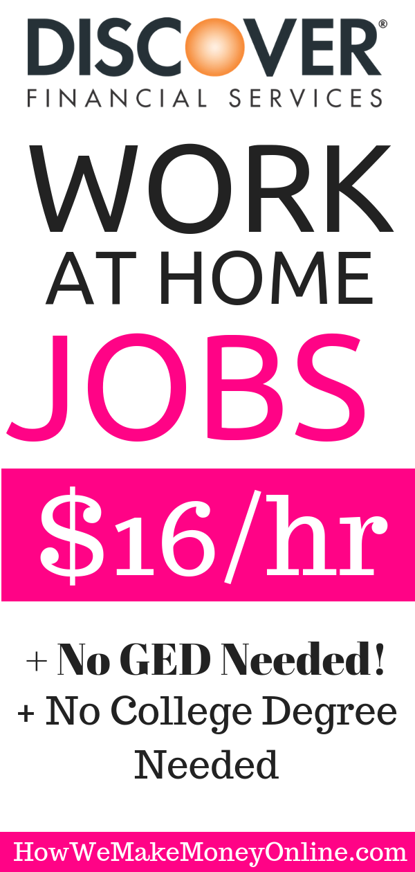 Discover Financial Work from Home Jobs: Make $16/hr