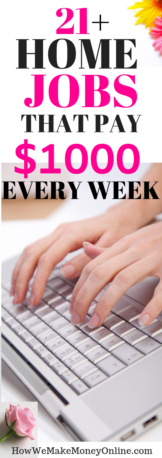 21 Home jobs that pay weekly. Get PAID every week. Looking for the BEST home jobs that pay weekly? In this post, I will SHOW you more than 30 work at home jobs that pay WEEKLY. Most of them are legitimate work from home jobs hiring now. No college degree needed. Also, you can make up to $24/hr or more. Apply for these high-paying work from home jobs and get paid EVERY WEEK. #workfromhome #workfromhomejobs #onlinejobs #momjobs #homejobs #onlinejobsfromhome #remotejobs #telecommute #virtualjobs #makemoney #sidehustles #diy
