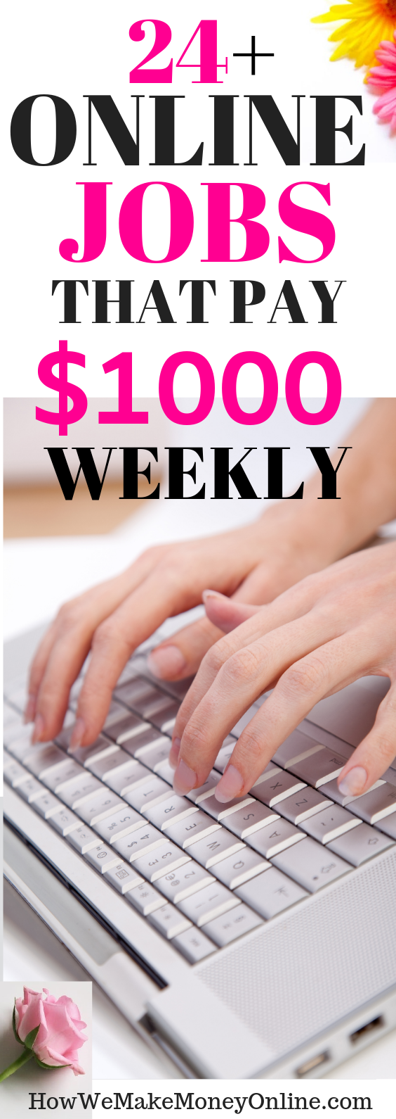 24 Online jobs that pay weekly. Get PAID every week. Looking for the BEST home jobs that pay weekly? In this post, I will SHOW you more than 30 work at home jobs that pay WEEKLY. Most of them are legitimate work from home jobs hiring now. No college degree needed. Also, you can make up to $24/hr or more. Apply for these high-paying work from home jobs and get paid EVERY WEEK. #workfromhome #workfromhomejobs #onlinejobs #momjobs #homejobs #onlinejobsfromhome #remotejobs #telecommute #virtualjobs #makemoney #sidehustles #diy