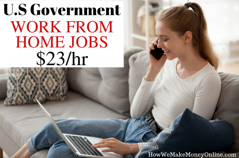 U.S government work from home jobs $23/hr. Looking for U.S. government work from home jobs? Federal government work from home jobs are now open and hiring now. These remote jobs are offered by The U.S Census Bureau for the 2020 national census project. They are paying as high as $23/hr for these legitimate U.S government jobs. #workfromhome #workfromhomejobs #federaljobs #usgovernmentjobs #usajobs #stayathomejobs #workathome #onlinejobs