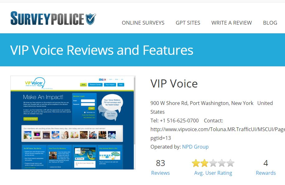 Legit Paid online survey sites like VIP Voice pays cash