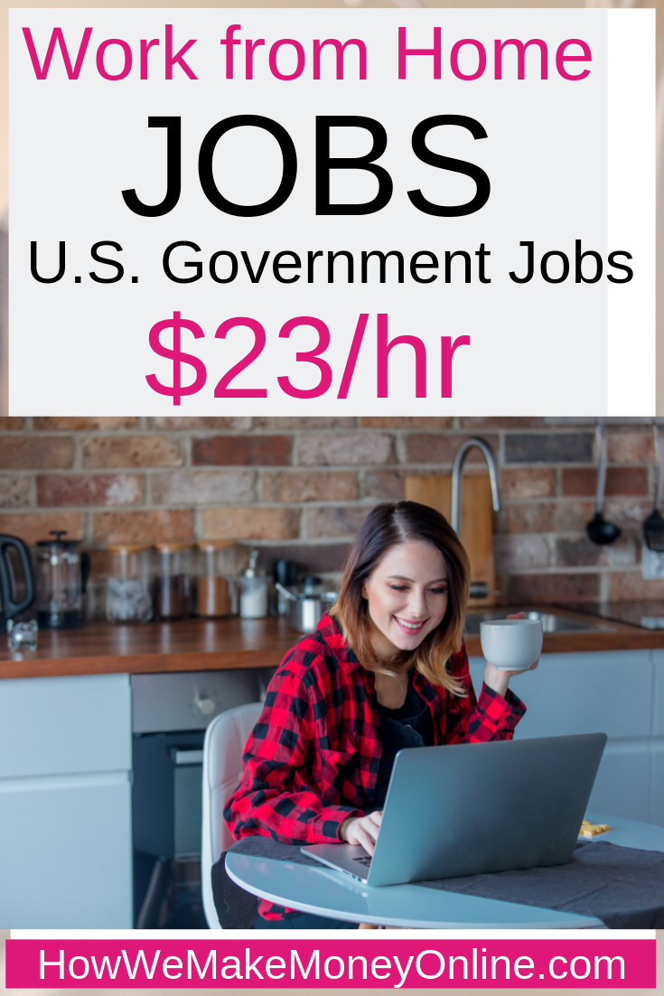 Work from home jobs hiring now. Work from home jobs for moms. Legitimate work from home jobs hiring now. The U.S Census Bureau is hiring work from home in all 50 states. You can make up to $23/hr or more and work from home. These are real work from home jobs for moms. These federal government work from home jobs offer full-time benefits. #workfromhome #workfromhomejobs #onlinejobs #makemoneyfromhome #homejobs