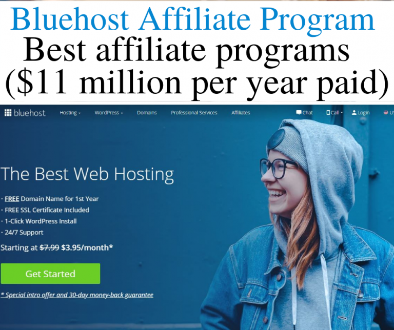 Bluehost affiliate program. The Bluehost affiliate program is one of the best affiliate programs for bloggers and online marketers. Are you looking for the best affiliate programs to sign up for? Apply for the Bluehost affiliate program. Bluehost pays out $11 million in affiliate commissions every year . Bloggers Michelle Schroeder-Gardner and Pat Flynn make most of their affiliate incomes from the Bluehost affiliate program. #bluehost #affiliateprograms #bluehostaffiliateprogram #bluehost #makemoneyonline #makemoneyfromhome #workfromhomejobs