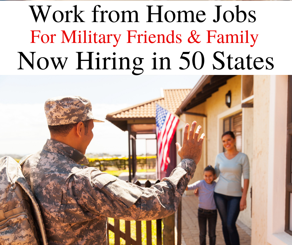Military Work from home jobs: $14/hr