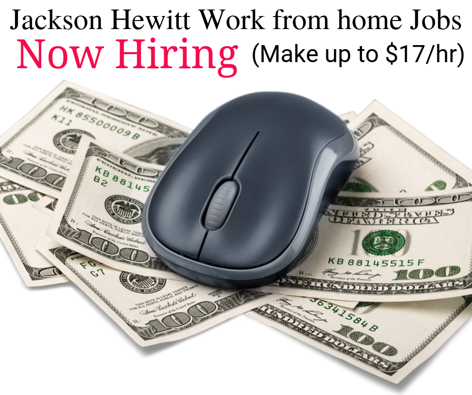 Jackson Hewitt is Hiring Work from Home in all 50 states!
